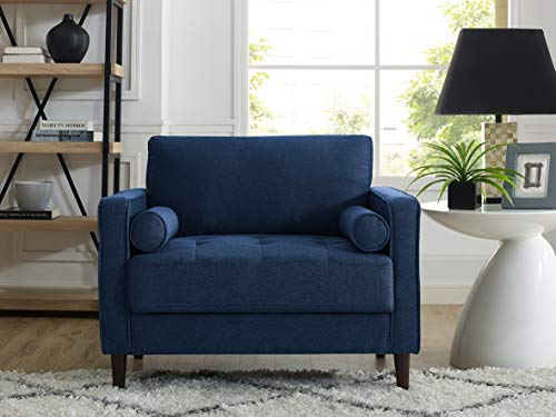 LifeStyle Solutions LK-LGFSP1GU3051 Lexington Chair in Navy Blue, (Navy Living Room Furniture)