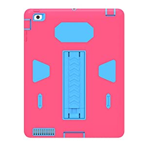 Solobay Case ipad 2/3/4 Shockproof with Kickstand 2 in 1 ipad Rubber Child Proof Tablet Case Cover For ipad 2/3/4 Heavy Duty Tough Rugged Hybrid Stand Shockproof Case