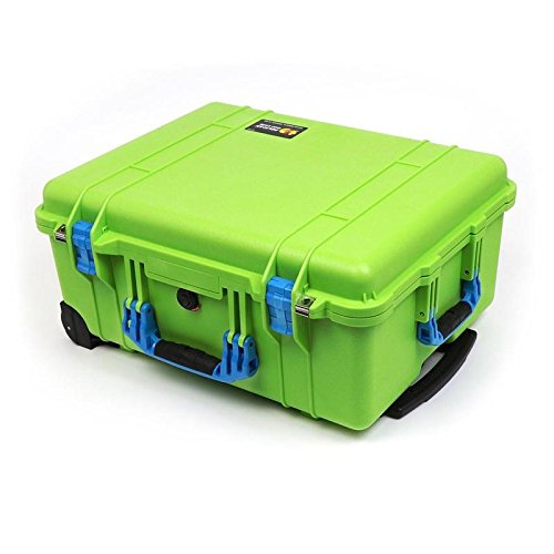 Pelican 1560 Lime Green & blue Case with foam. by Pelican (Image #3)