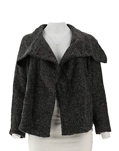 - Lisa Rinna Collection Boucle Shawl Collar Jacket Grey 3X New A278961