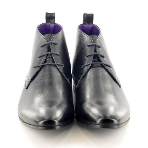 Mens Black Leather Smart Formal Casual Lace Up Boots Shoes UK SIZE 6 7 8 9 10 11 (UK 6 (40)) JsFRkgguR