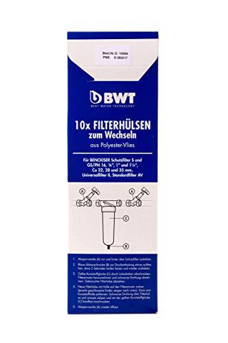 BWT Filterhulzen voor het wisselen van polyestervlies, 10 stuks, 10999