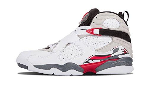 Jordan Air 8 Retro Mens Basketball Shoes White/Black/True Red