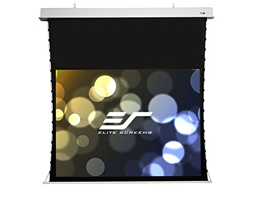 (Elite Screens Evanesce Tab-Tension, 120-inch 16:9, Tensioned In-Ceiling Projection Projector Screen, ITE120HW2-E8)