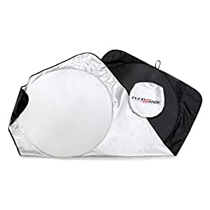 Genius Spark Universal Flexi Shade- Non Slip Jumbo Car Windshield Sun Protector & Pop Up Sunshade For Vehicles - Offers Complete UV Ray & Heat Protection for Drivers, Children, Baby & Dogs.