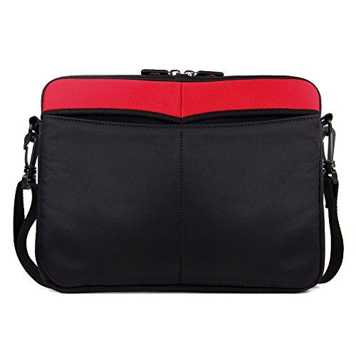 - Kroo Apple iPad Pro/ Macbook Air Red and Black 13-inch Sleeve Messenger Bag ...