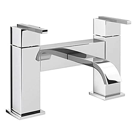 VeeBath Chester Sleek Chrome Modern Bathroom Basin Sink Lever Basin Mixer Tap With Pop Up Waste