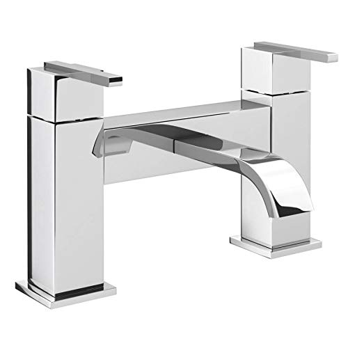 VeeBath Chester Chrome Spout Bath Shower Mixer Tap + Bathroom Bath Filler Bath Mixer Hand Held Round Shower Head