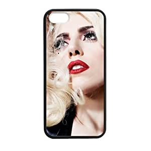 iPhone 5 Case, [lady gaga] iPhone 5,5s Case Custom Durable Case Cover for iPhone5 TPU case(Laser Technology) by runtopwell
