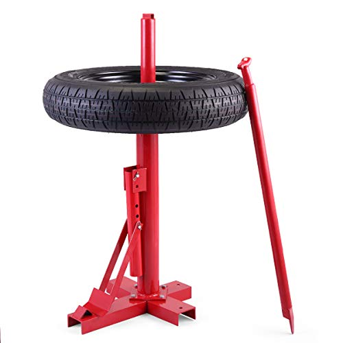 JAXPETY Red New Tools Tire Changer Manual Tire Changer Heavy Duty Changer Bead Breaker - Manual Tire Changer
