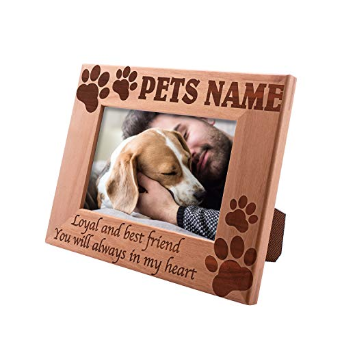Personalized Picture Frame 4x6 Pet Memorial for Cats, Loyal & Best Friend, Custom Engraved with Dog's Name & Years - Cat Owner Gift ...