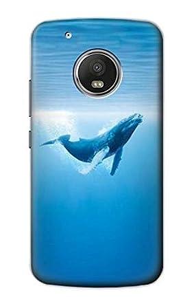 Amazon.com: r0843 ballena azul funda carcasa para Motorola ...
