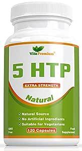 5-HTP Natural de 100 mg, 120 Cápsulas Vegetarianas con Suministro Para 4 Meses, Libres de Transgénicos y Que Ayudan al Sueño ya la Regulación de ...