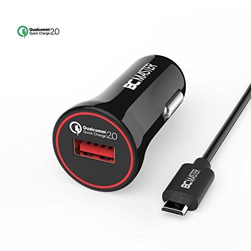 Schnellaufladung , BC Master Quick Charge QC 2.0 USB Autoladegerät Adapter für Samsung GalaxyS7 / S7 Edge, S6 / S6 Edge / Note 5 / Note 4, HTC, Nexus 6