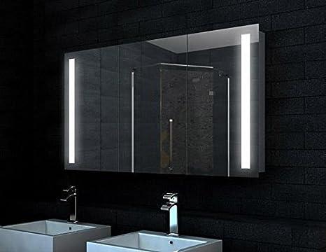 Design Bagno Torino : Torino design in alluminio bagno armadietto a specchio led: amazon