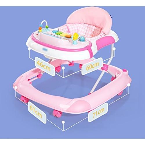 Bébé Trotteurs Baby Walker 7-18 mois Bébé anti-roulement Trois engrenages Réglage multifonctionnel Music Walker U-foldable Walker Trotteurs bebe ( Couleur : A )