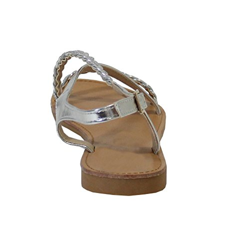 By Shoes -Sandalias para Mujer Silver