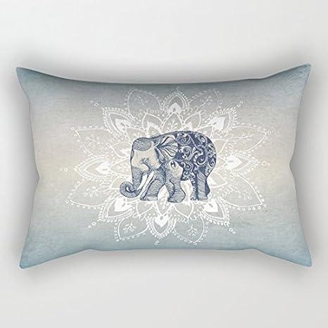 oransuger elefante Mandala Lienzo de algodón rectángulo ...