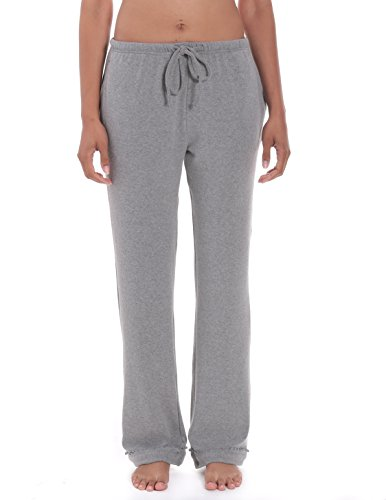 - Noble Mount Women's Cozy Rib Lounge Pant - Heather Grey - Medium