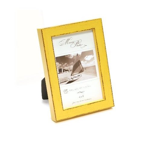 Maxxi Designs Photo Frame with Easel Back, 4 x 6, Yellow St. Tropez