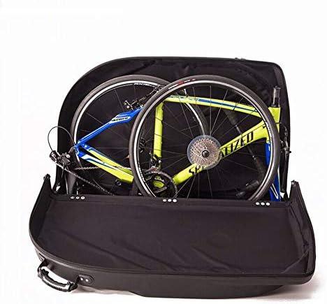 折りたたみ自転車バッグボックスケース自転車旅行キャリアホイール付きフライト車の列車の旅ハードシェルttローディング輸送パスワードロック