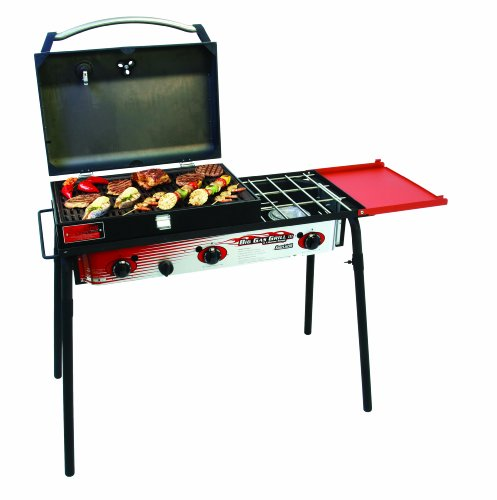Big Gas 3 Burner Grill Black/red, Outdoor Stuffs