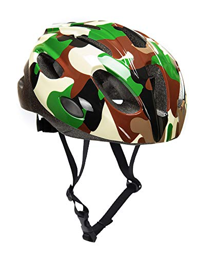 BeBeFun Safety Adjustable Size Kids Babies Bike Multi-Sports Helmet for Boy 3-7 Years Old Lighting Theme (Jungle)