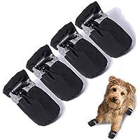 Estos Zapatos de Suela Blanda para Perros Son c/ómodas con Correas Reflectantes Botas Perro de la Pata Protector Anti-Slip Zapatos para Perros para el peque/ño Perro