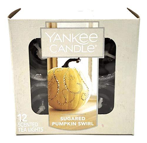 Yankee Candle Sugared Pumpkin Swirl Tea Light Candle, Food & Spice -