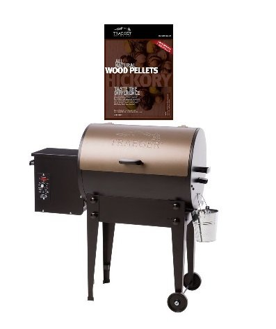 Bundle of 2, Traeger Tailgater TFB30LZB Pellet Grill WITH 20 lb Traeger PEL 319 Hickory Wood Pellets