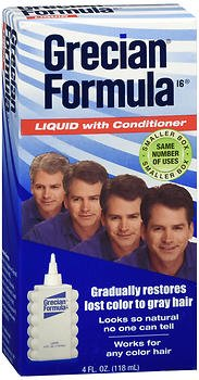 Grecian Formula 16, Hair Color Liquid With Conditioner - 4 Oz, (Pack of 2)