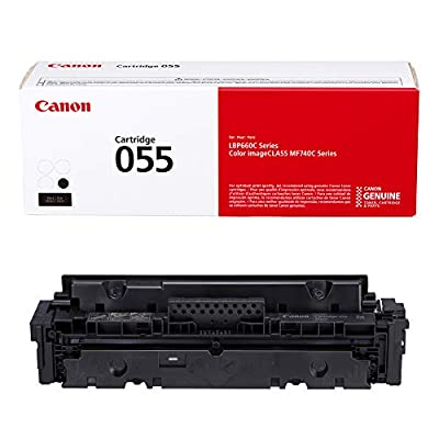 Canon Genuine Toner, Cartridge 055 Black (3016C001) 1 Pack, for Canon Color imageCLASS MF741Cdw, MF743Cdw, MF745Cdw, MF746Cdw,LBP664Cdw Laser Printers
