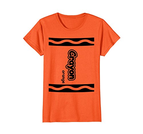 Womens Orange Crayon Easy Halloween Costume Cute T-Shirt Medium (Couples Halloween Costumes Ideas To Make)