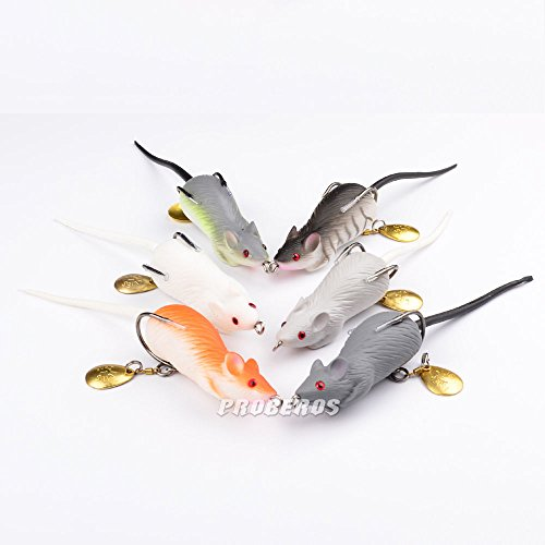 High quality 6pcs lot soft mice rat lures fishing lure for Mouse fishing lure