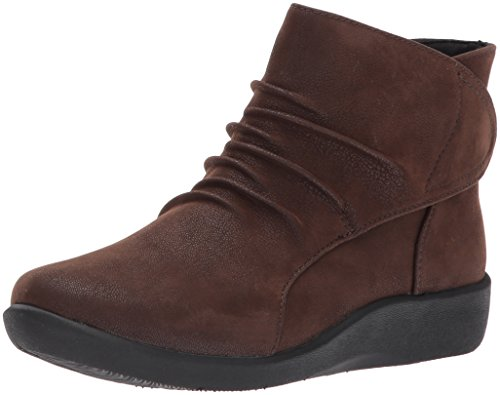 CLARKS Women's Sillian Sway Ankle Bootie, Brown, 10 M US