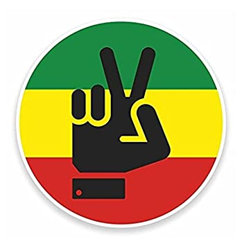 Rasta peace hand jamaica vinyl self adhesive sticker decal sticker graphic auto wall