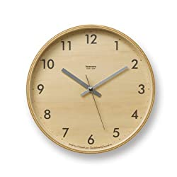 Lemnos Plywood Wall Clock S Gray