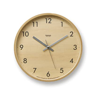 "Lemnos Plywood Wall Clock S Gray - Moritoyoshi Dimensions: 10"" W x 1.77"" Dia.Weight:1.10 lbs.Materials:plywood and glassYear:2008Made in:JapanHandmade. The clock features a Seiko movement that runs on a single AA battery (included). - wall-clocks, living-room-decor, living-room - 41jnvU93mXL. SS400  -"