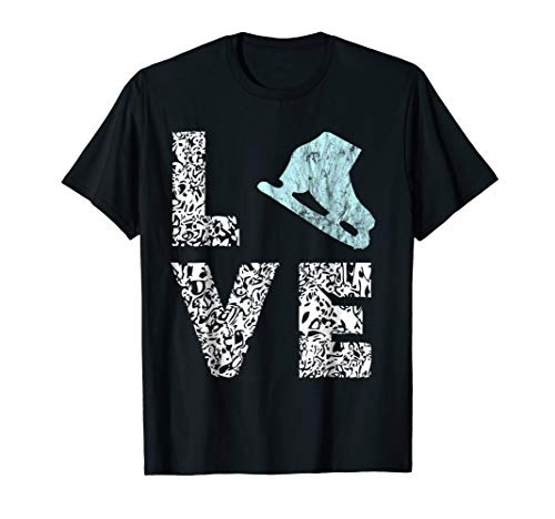Ice Skating Shoes Figure Skating Ice Skater T-Shirts Gifts ()