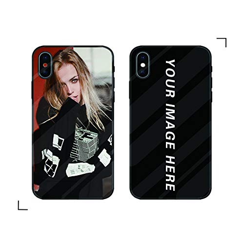 iPhone XR Case, Tuerdan [Personalized Custom Picture CASE] [The one and only] [Be Your Own Designer] [Record Good Memories] Protective Tempered Glass Case for iPhone ()