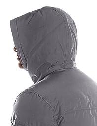 Levi\'s Men\'s Shorty Snorkel Hoody Bomber Jacket, Charcoal, XX-Large
