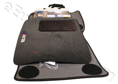 BMW Genuine M Logo Black Floor Mats E46 - 3 SERIES M3 COUPE & SEDAN (2000 - 2006), set of Four