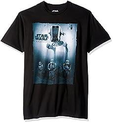 Star Wars Men's Rogue One Walk in It T-Shirt, Black, X-Large