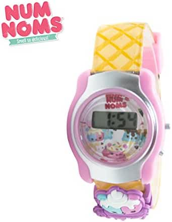 LCD watch with interchangeable icons and birthday cake scented strap