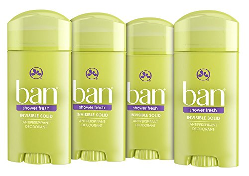 Ban Antiperspirant Deodorant, Invisible Solid, Shower Fresh, 2.6-Ounce (Pack of - Ban T