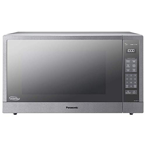 Panasonic Microwave Oven, Stainless Steel Countertop/Built-In Cyclonic Wave with Inverter Technology and Genius Sensor, 2.2 Cu. Ft, 1250W, NN-SN97JS (Silver) (Renewed)