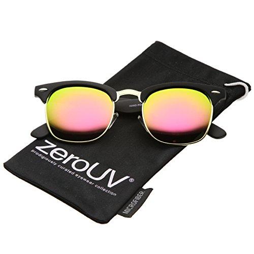 0f73381aa4 Jual zeroUV - Rubberized Mirror Polarized Lens Half Frame Sunglasses ...