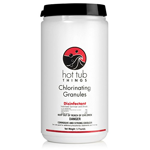 Hot Tub Things Chlorine Granules 5 Pounds - Keeps Your Spa Water Safe and Sanitized