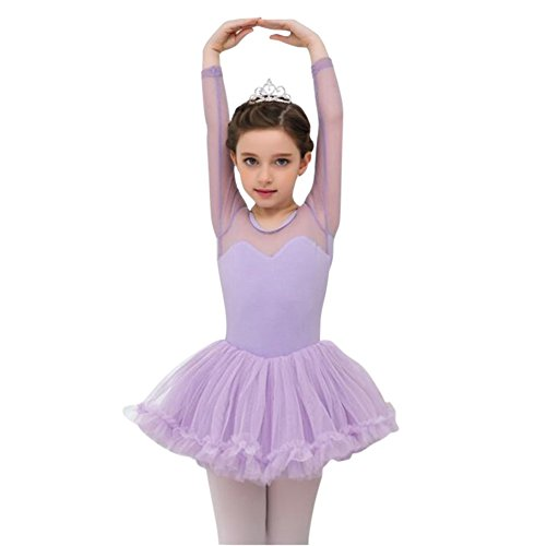 Balai Kids Girls Ballet Tutu Gymnastics Leotard Skirt Tutu Dance Dress 4-15Y