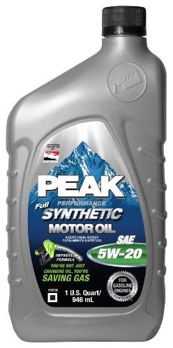 5W20 Full Synthetic Motor Oil - 1 Quart Bottle, (Pack of 6) - Peak PEK12033
